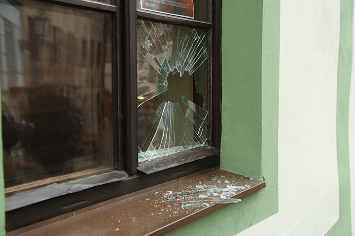 A2B Glass are able to board up broken windows while they are being repaired in Sutton.